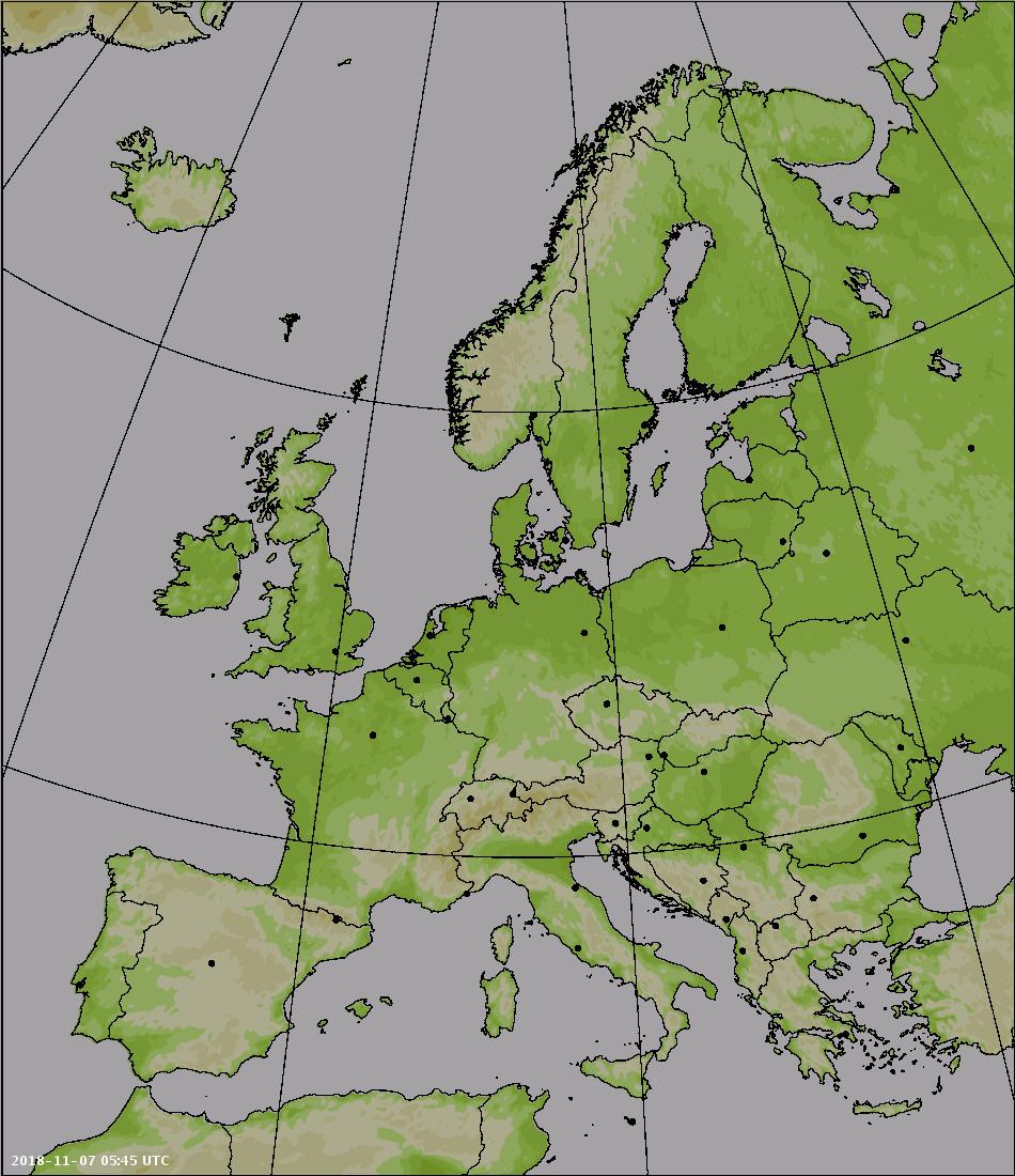 Mapa radarowa Europy